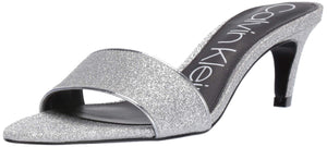 Women's Gallia Heeled Sandal -Silver Dusty Glitter