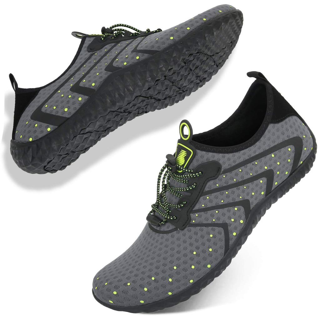 Women's Water Shoes Lightweight Quick Dry Non-Slip- Grey Yellow