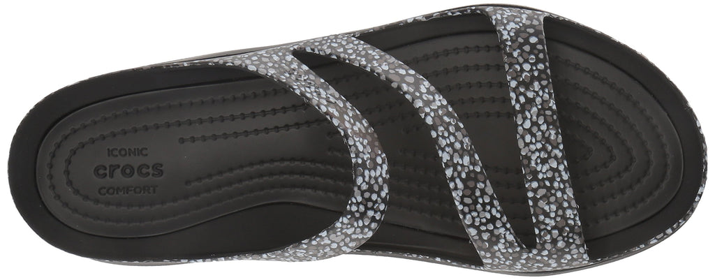 Crocs Women's Swift Water Graphic Sandal W Sport Dots
