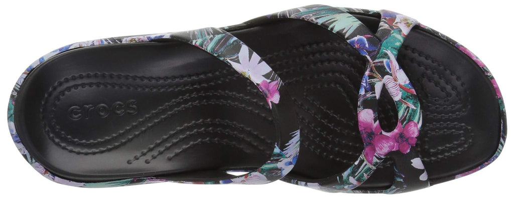 Crocs Women's Meleen Twist Graphic Sandal Slide, Tropical Floral