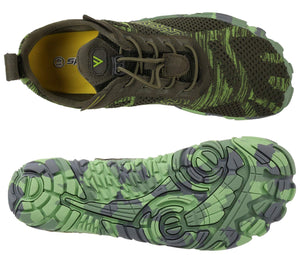 Men's Minimalist Trail Runner Shoes- Green