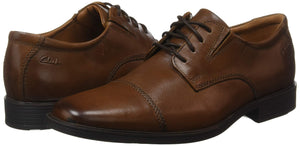 Men's Tilden Cap Oxford Dress Shoes- Dark Tanlea