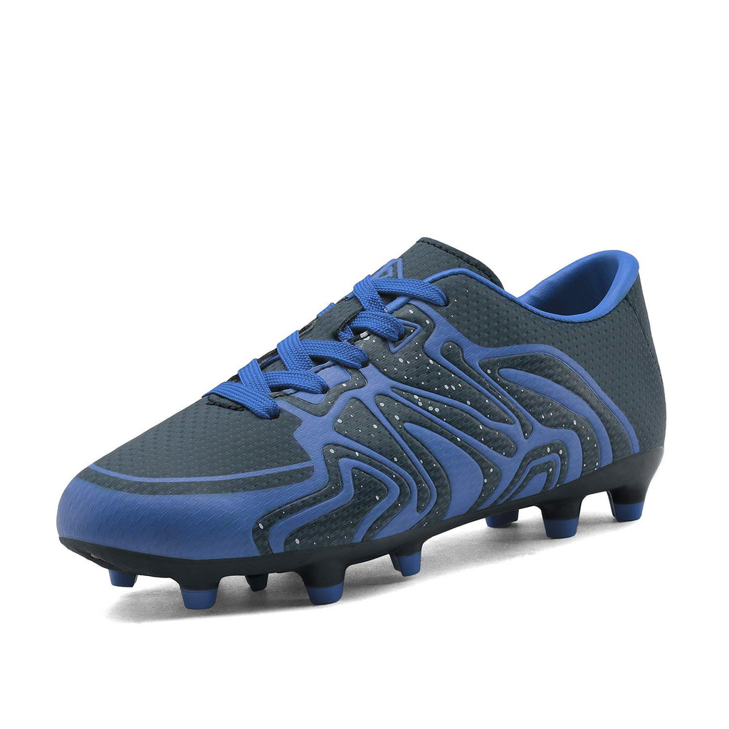 Kids Soccer Cleat Shoes- Navy Royal White