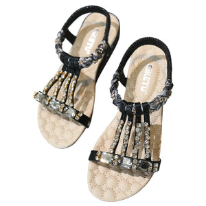 Ladies Flat Sandals T Strap Beach Sandals