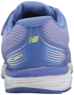 Boys 680V5 Hook and Loop Running Shoe- Ice Violet/Twilight