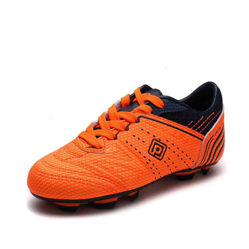 Kids Soccer Cleat Shoes- Orange Navy
