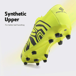 Kids Soccer Cleat Shoes- Light Green Black White
