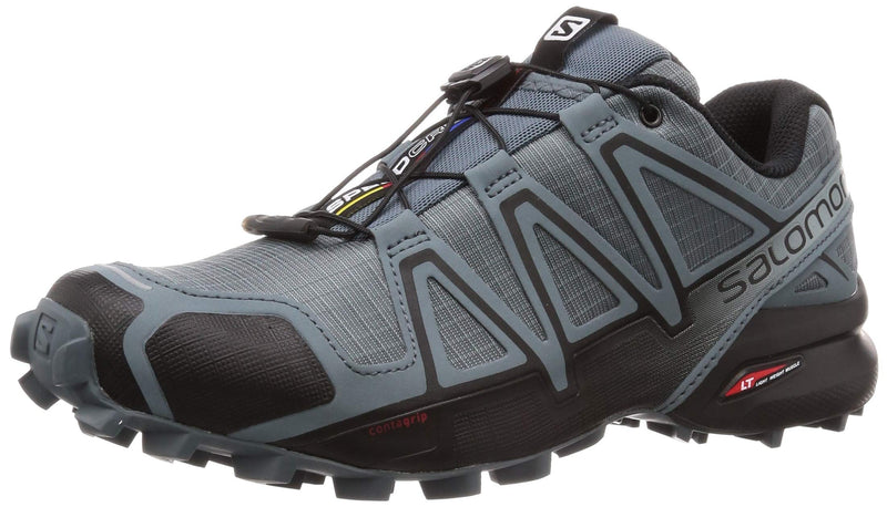 Men's Speed-Cross 4 Trail Running Shoes- Black Stormy Weather