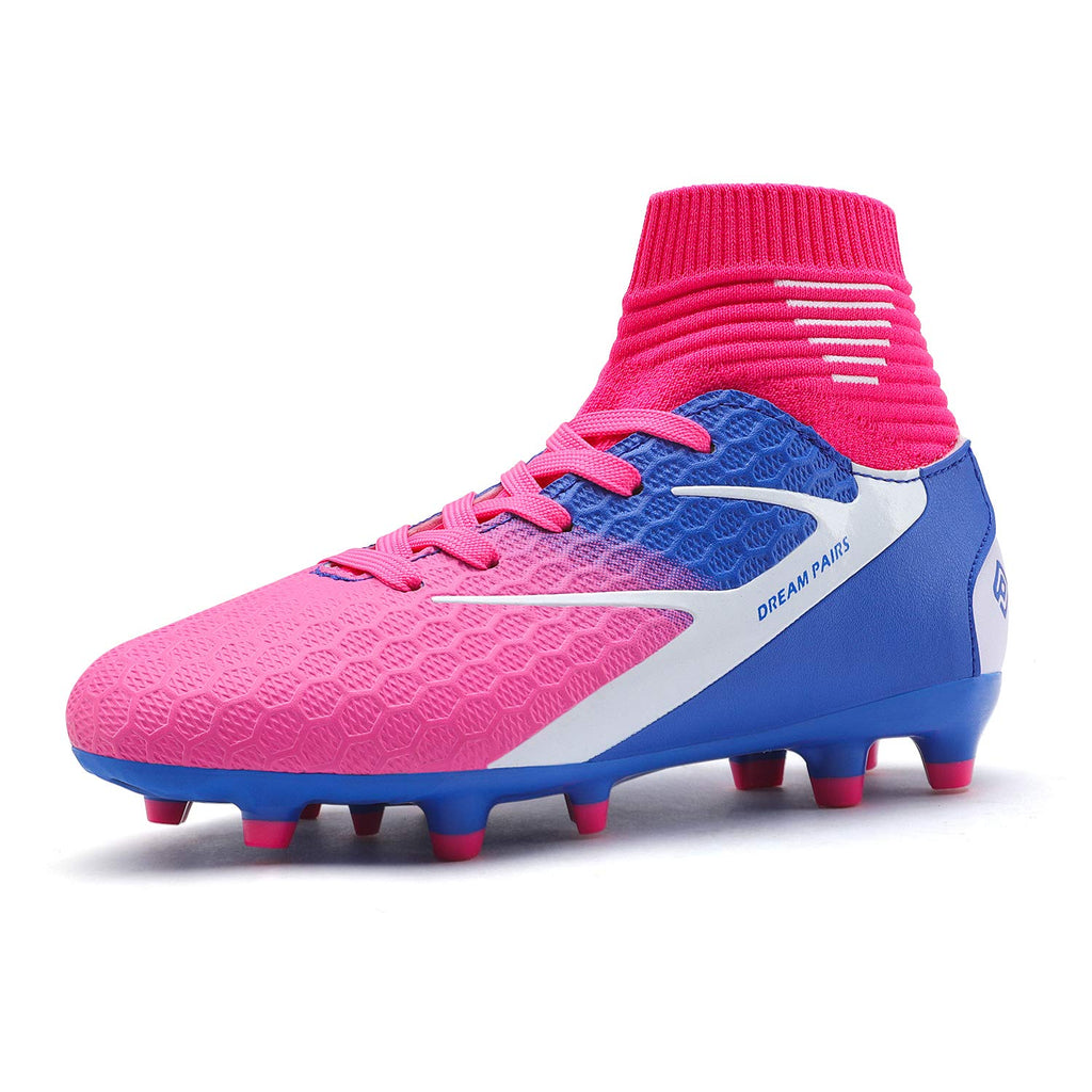 Kids Cleats Soccer Shoes- Fuchsia Royal Blue White