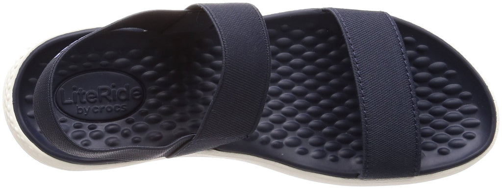 Crocs Women's LiteRide Sandal, Navy/White