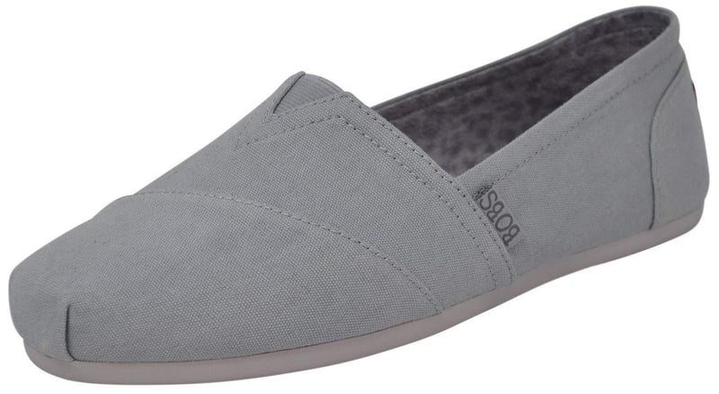 Skechers Women's Bob's Plush-Peace & Love Ballet Flats-Grey