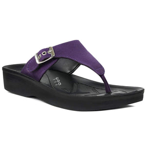 Women's Orthotic Soft Open-Toe Comfortable Flip Flops for Women- Denimre Violet