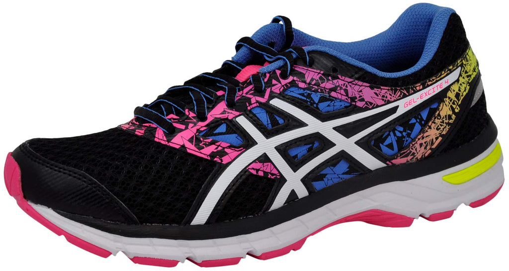 Women's Gel-Excite 4 Running Shoe Black/White/Knockout Pink