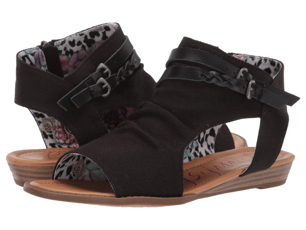 Blowfish Women's Blumoon- Black Rancher Canvas Dyecut