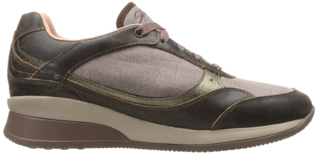 Women's Vita Luca Fashion Sneakers- Light Brown Leather Linen