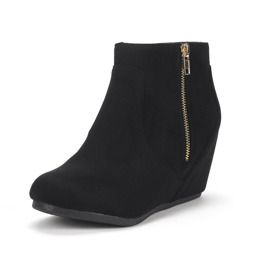 Women's Narie-Low Wedges Ankle Boots- Narie Black