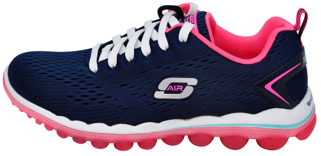 Women's Air Sneakers- Navy Hot Pink