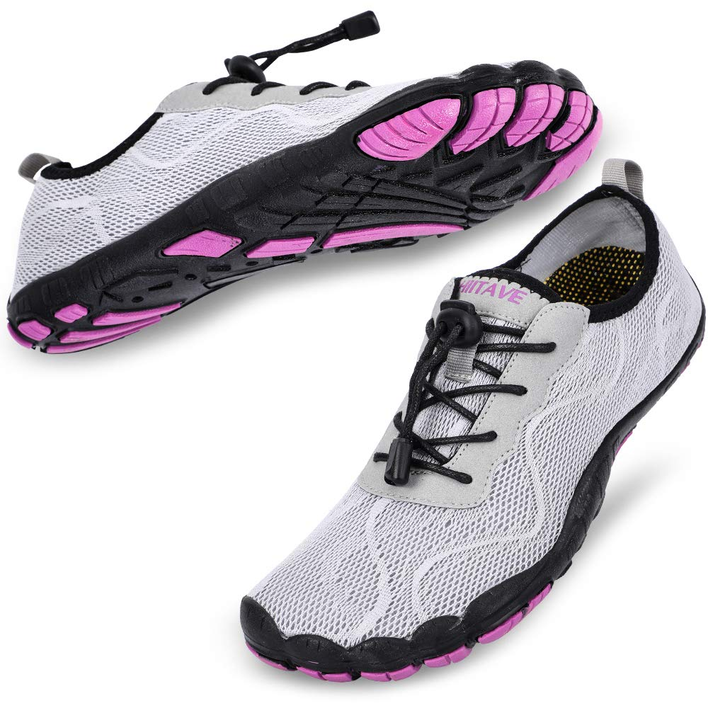 Women's Swimming, Surfing, Diving, Water Shoes- Light Gray Purple