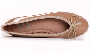 Women's Macaroon Colorful Ballet Flats- Nude