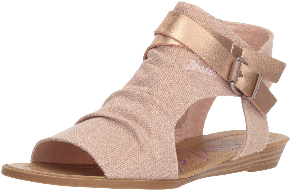 Blowfish Women's Balla Wedge Sandal-Rose Gold Rancher-Rose Gold Pisa Pu