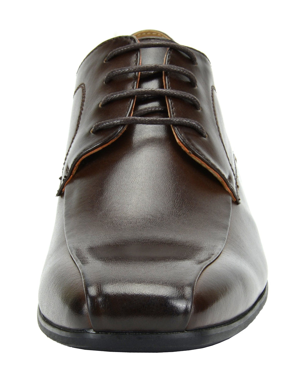 Men's Classic Modern Formal Oxfords Lace Up Leather Lined Snipe Toe-Dark Brown-5