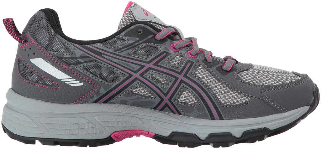 Women's Gel-Venture 6 Running-Shoes-Carbon/Black/Pink Peacock