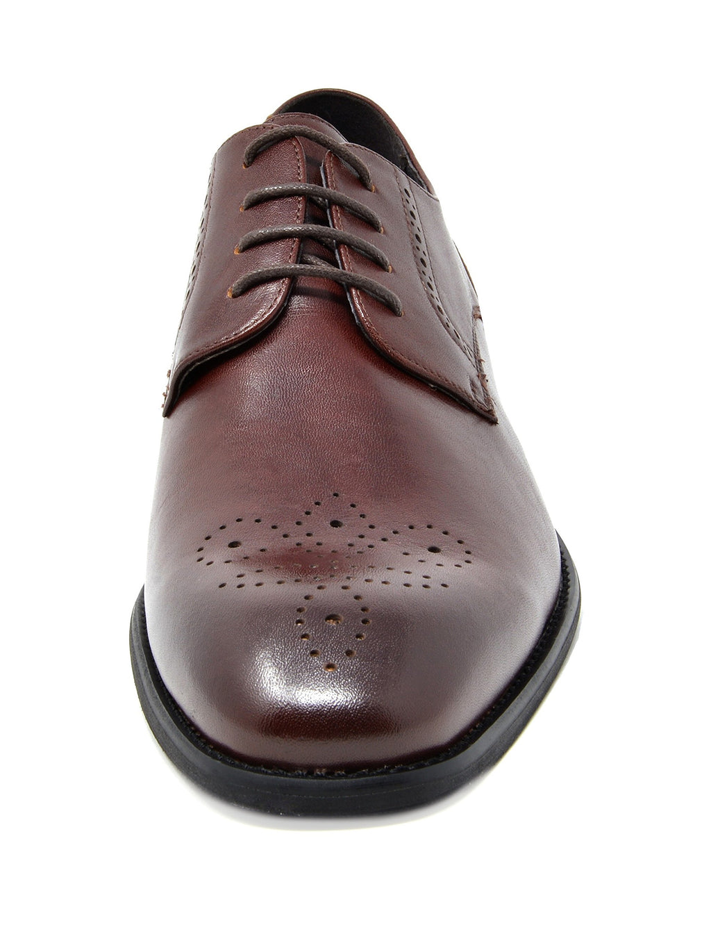 Men's Brown Dress Shoes Classic Oxfords Washington- Dark Brown
