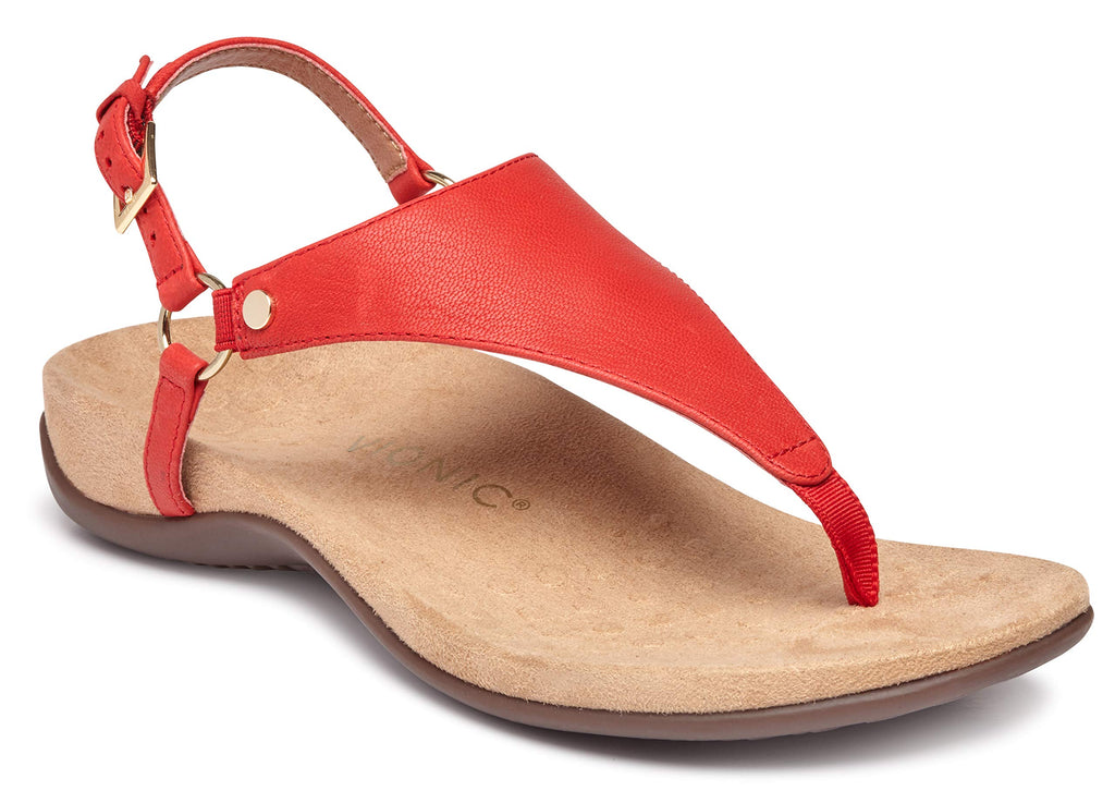 Women's Rest Kirra Back Strap Sandals with Concealed Orthotic Arch Support - Cherry