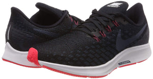 Men's Air Zoom Pegasus 35 Running Shoes- Black Armory Navy Platinum Tint