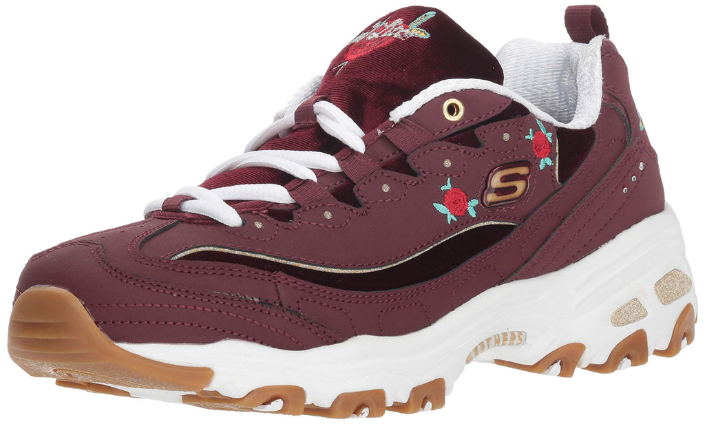 Women's D'Lites Rose Blooms Sneakers- Burgundy
