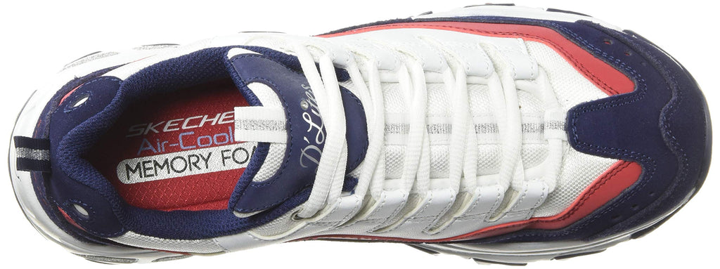 Women's D'Lites Sure Thing Sneakers White-Navy-Red