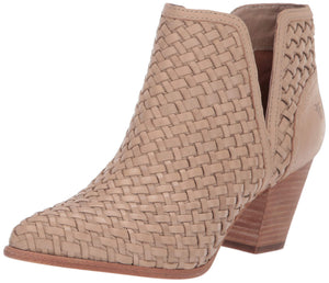 Women's Reed Cut Out Woven Bootie Ankle Boot- Cream