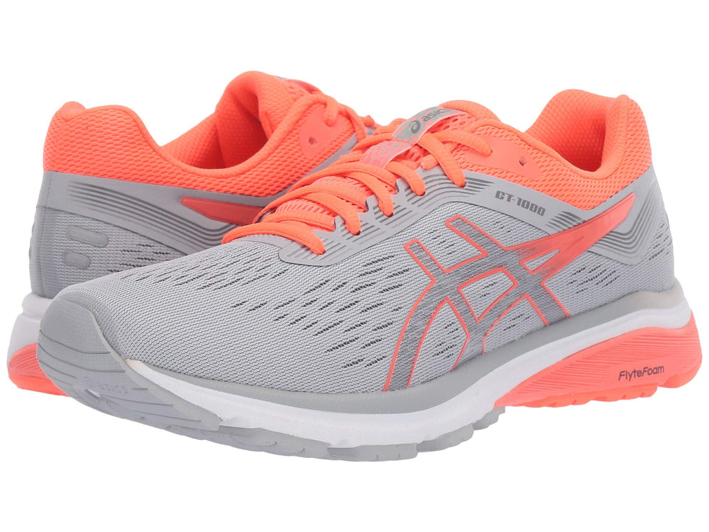 Women's GT-1000 7 Running Shoe  Mid- Grey Flash Coral