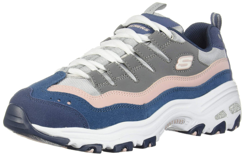 Women's D'Lites  Sure Thing Sneakers- Navy Pink