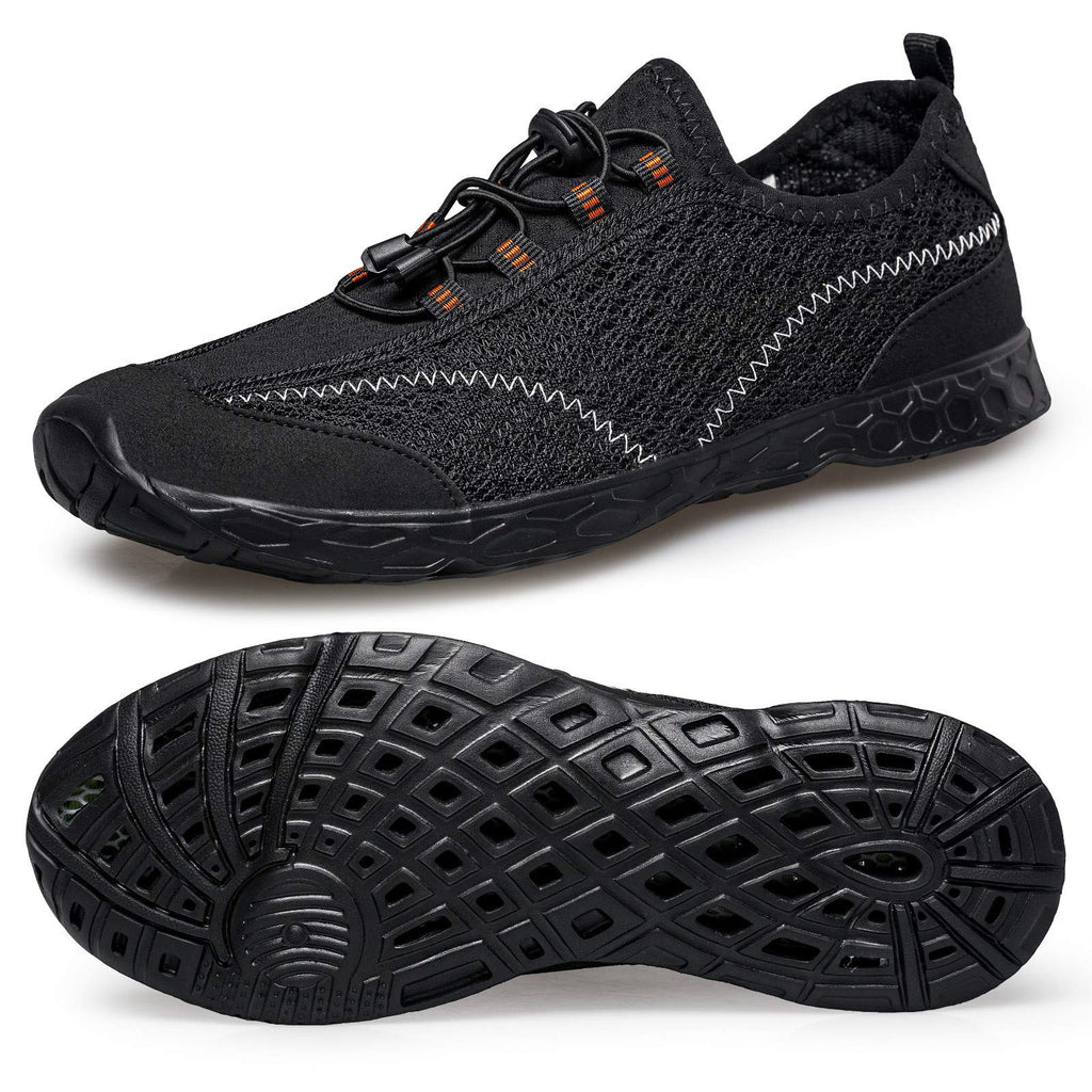 Men's Lightweight Quick Dry Water Shoes- All Black