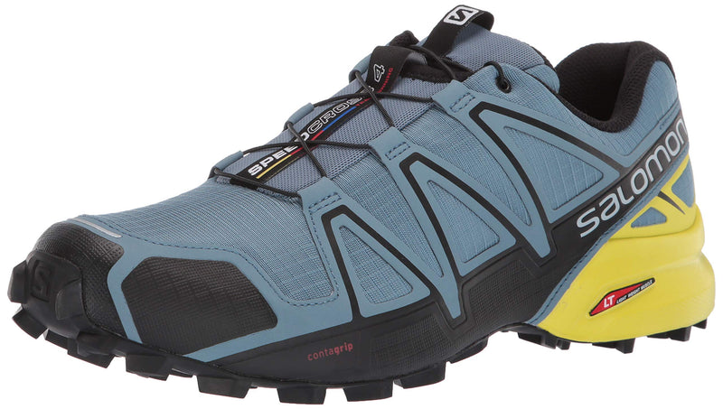 Men's Speed-Cross 4 Trail Running Shoes- Blue-Stone Black Sulfur Spring