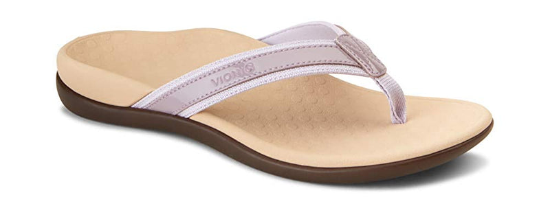 Women's Tide II Toe Post Sandal - Flip Flop with Concealed Orthotic Arch Support-Mauve