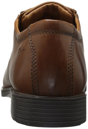 Men's Tilden Leather Cap Oxford Dress Shoes- Dark Tan