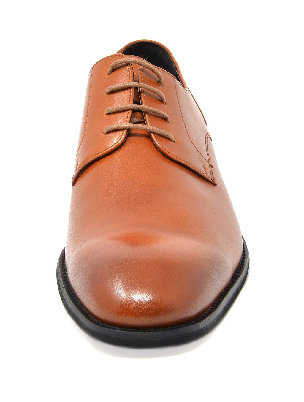Men's Brown Dress Shoes Classic Oxfords Plain Toe Washington- Brown