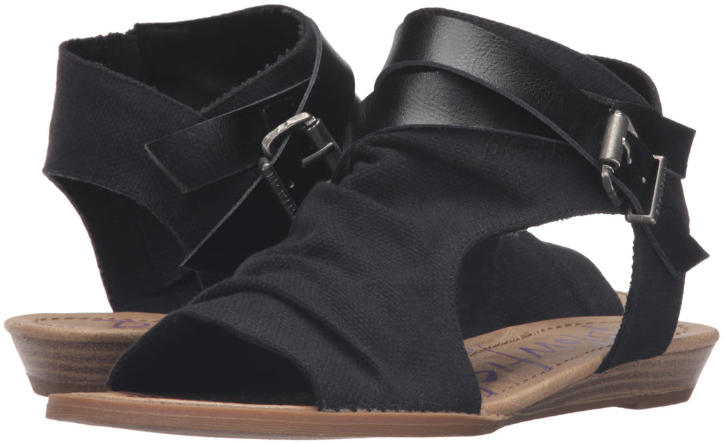Blowfish Women's Balla Wedge Sandal- Black