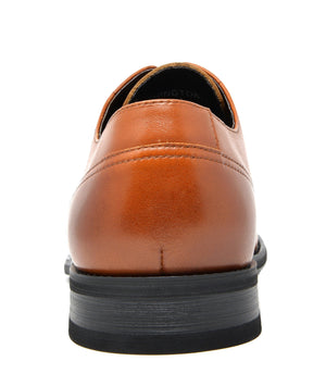 Men's Brown Dress Shoes Cap Toe Oxfords Washington- Brown 2