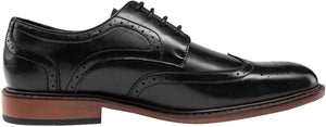 Men's Oxford Formal-Business Dress Shoes- Wingtip Black