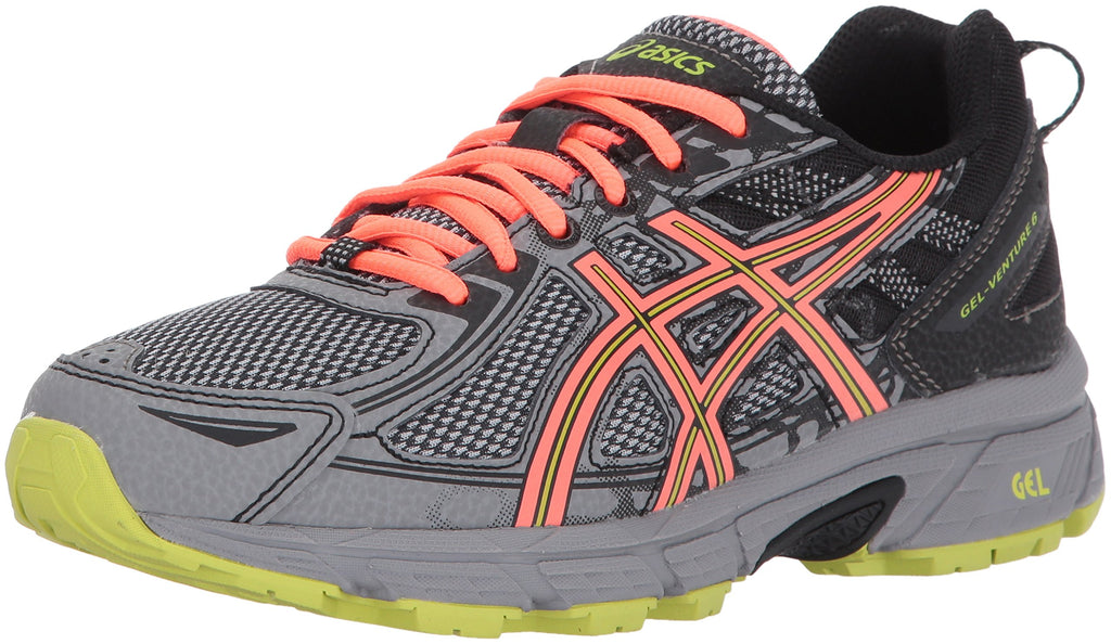 Women's Gel-Venture 6 Running-Shoes- Phantom/Coral/Lime