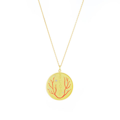 The Breathe Gold necklace Gazza Ladra Fine Jewelry