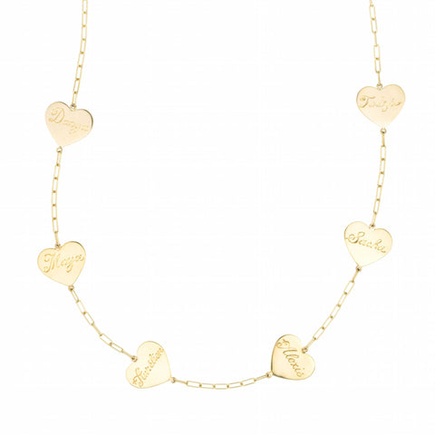 Heart Talismans Gold Necklace