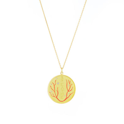 Breathe Diamond and Enamel Necklace