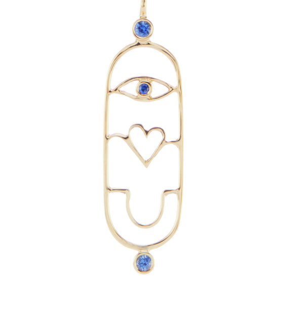 Eye Love You Cartouche Charm