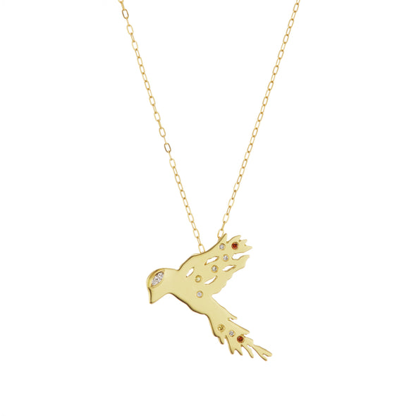 Migrant Bird Gold Necklace Gazza Ladra