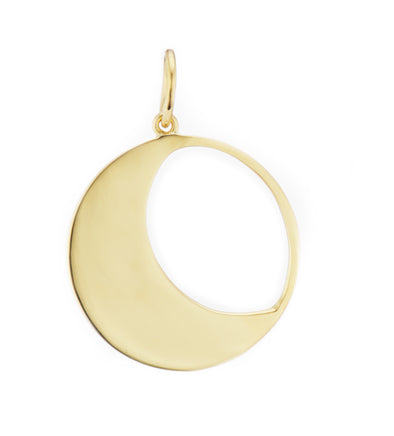Moon Charm in Gold