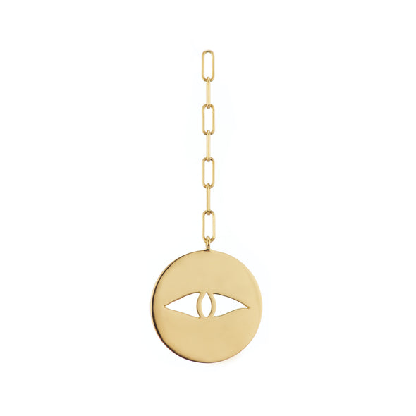 14k gold earring in shape of eye